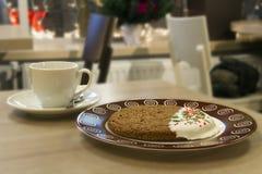 饼干用茶或咖啡 免版税库存图片