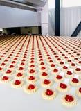 饼干的生产 免版税图库摄影