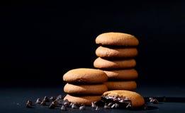 饼干被装载的巧克力奶油 库存图片