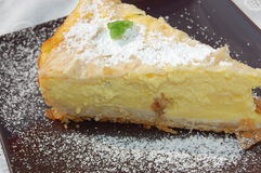 饼板料和酸奶蛋糕 库存图片