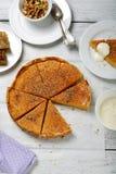 饼用南瓜和蜂蜜 库存照片