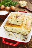 饼用圆白菜和鸡蛋 免版税库存照片