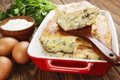 饼用圆白菜和鸡蛋 库存照片
