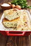 饼用圆白菜和鸡蛋 免版税库存图片