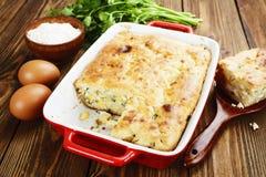饼用圆白菜和鸡蛋 库存图片