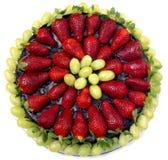 饼草莓 免版税库存图片