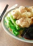 馄饨饺子 免版税库存图片