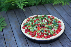 馅饼用草莓 图库摄影
