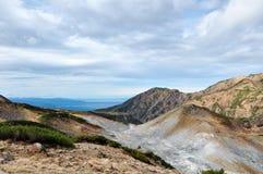 馆山在秋天 Mt Dainichidake和Murodo 免版税库存照片
