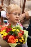 首先叫 天9月1日,知识在俄国学校 天知识 日第一所学校 库存图片