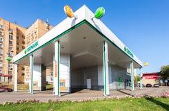 首先在俄罗斯Sberbank汽车办公室 免版税库存图片