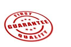 首先标签质量 免版税库存照片