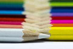 首先白色铅笔 免版税图库摄影
