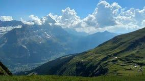 首先,格林德瓦,瑞士 免版税库存照片