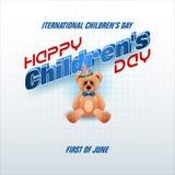 首先6月,儿童` s天,庆祝 免版税库存照片