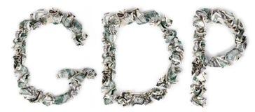 国民生产总值-起皱的100$票据 免版税库存照片