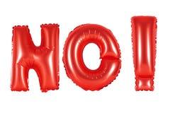 首字母缩略词和简称,不,红颜色 免版税库存图片