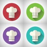 首要厨师标志无边女帽烹调食物象 库存图片