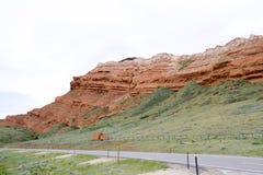 首要高速公路约瑟夫风景怀俄明 库存图片