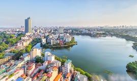 首都河内,越南的都市发展 免版税库存照片