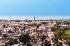 首都班珠尔冈比亚的看法 免版税库存照片