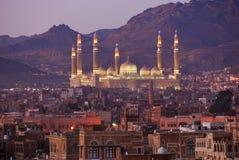 首都萨纳也门 免版税库存照片
