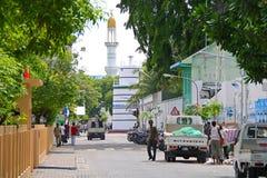首都马尔代夫男街道 免版税图库摄影