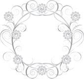 首饰花卉框架 免版税库存照片