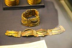 首饰-图坦卡蒙国王珍宝,埃及博物馆 图库摄影