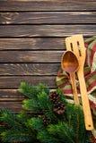 茴香圣诞节叉子节假日例证菜单桔子向量 免版税库存照片
