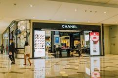 香奈尔在成都化妆零售店 免版税库存图片