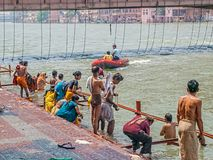 香客在Haridwar 图库摄影