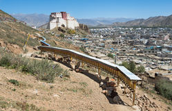 香客路线在西藏 库存照片