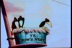 香客从乌鸦的察觉土地' s巢 库存例证