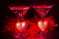 香宾和情人节、爱和豪华 库存照片