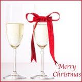 香宾圣诞快乐 免版税库存照片