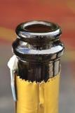 香宾瓶上面 免版税库存图片