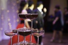 香宾葡萄酒杯 图库摄影