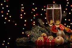 香宾 圣诞节新年度 免版税库存图片