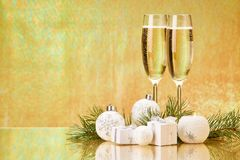 香宾 圣诞节新年度 免版税图库摄影