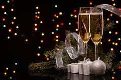香宾 圣诞节新年度 图库摄影