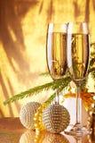 香宾 圣诞节新年度 库存照片