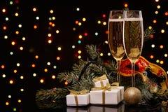 香宾 圣诞节新年度 库存图片