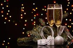 香宾 圣诞节新年度 免版税库存照片