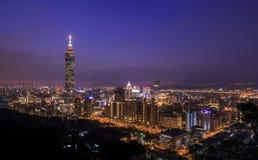 从香山的看法是101和Tai的古典看法 库存照片