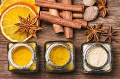 香料、颜色和味道的类型 仍然1寿命 免版税库存图片