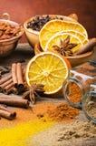 香料、颜色和味道的类型 仍然1寿命 免版税库存照片