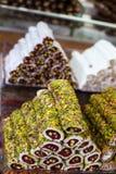 香料义卖市场在伊斯坦布尔 免版税库存图片