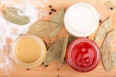 香料和调味汁 免版税库存图片