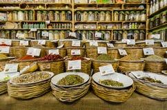 香料商店在Ortigia 库存照片